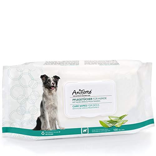 AniForte Toallitas de Aseo Perros 100 Piezas - toallitas de Limpieza...