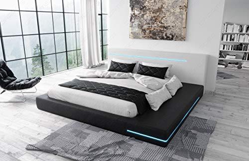 Sofa Dreams Modernes Designerbett Rimini mit LED Beleuchtung