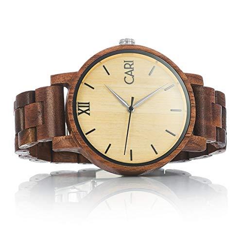 Holzuhr Havanna mit Schweizer Uhrwerk braun