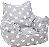 Knorrtoys 68211 Pouf pour Enfant Motif étoiles Blanc