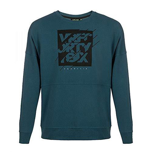 Valentino Rossi Vr46 Lifestyle, Sweatshirt Uomo, Blu/Verde, M
