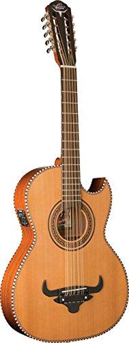 Oscar Schmidt OH22SE-O-U 10-String Thinline Bajo Quinto with Bag. Natural Finish
