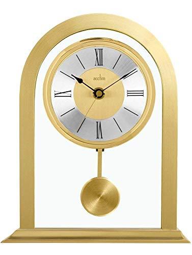 Acctim Colney 36938 Tischuhr, Metall und Glas, goldfarben