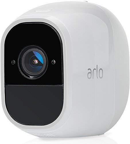 Arlo Pro2 VMC4030P Telecamera Addizionale per Sistema Videosorveglianza Wi-Fi senza Fili, Audio 2 Vie, Batteria, Full HD, Visione Notturna, Interno/Esterno, VCR Opz, Alexa e Google Wi-Fi