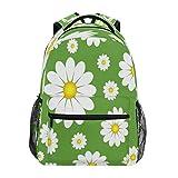 RXYY Daisy Sprint - Mochila escolar para niños y niñas, gran capacidad, diseño floral, color verde