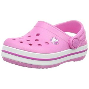 Crocs Kids' Classic Slipper   Comfortable Slip On Fuzzy Slippers for Kids, Party Pink, 9 US Toddler