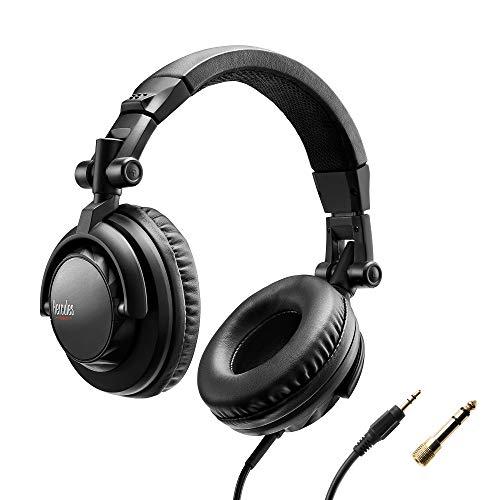 Hercules HDP DJ45 Cuffie DJ Chiuse, Pieghevole, Auricolari Girevoli e Cavo da 2m/6,5', Chiuso Isolamento del rumore, Potente, impedenza 60 ohm