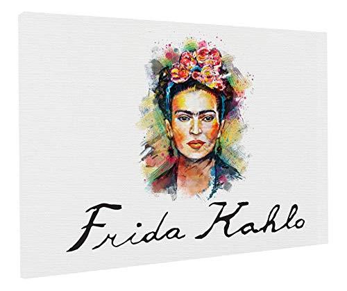 REITANO GROUP Imprimir en Lienzo Cuadro sobre 50x70cm Pintura Tema Frida Kahlo Feminismo revolución Marco de Madera Made in Italy CASA Muebles Tienda T117