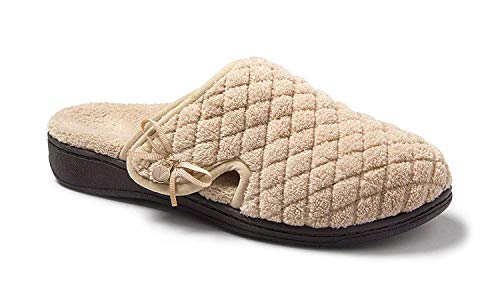 Vionic Women's Adilyn Slipper- Ladies Adjustable Slippers with Concealed Orthotic Arch Support Tan 10 Medium US