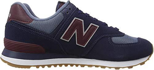 New Balance Herren 574v2 Sneaker, Blau (Navy/Red Spo), 44.5 EU