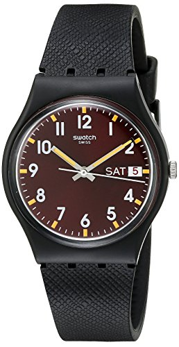 Swatch Herrenuhr Digital Quarz mit Silikonarmband – GB753