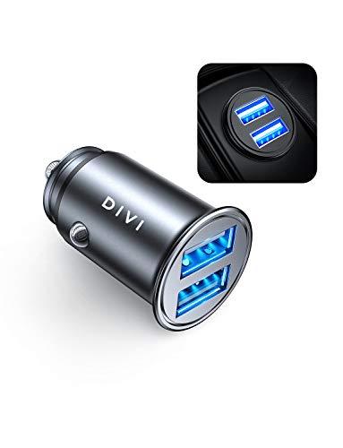 DIVI Chargeur de Voiture, Ultra Compact 2 Ports USB 5V / 4.8A en Alliage...
