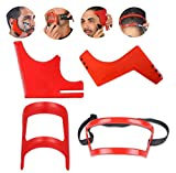 4 Pcs Beard Shaping Tool Haircut Kit, Beard Guide Shaping Tool, Hairline Template Stencil, Mustache Edge Shaving Template, Hairline Shaping Tool Beard Stencil for Men Hair Styling Beard Trimming Tool