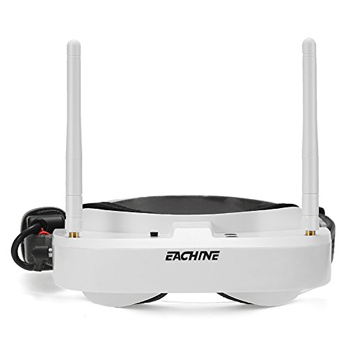 Eachine EV100 720 x 540 px 5.8G 72CH FPV Goggles With Dual Antennas Fan with 7.4V 1000mAh Battery - White