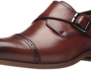 STACY ADAMS Men's Desmond Cap Toe Monk Strap Loafer