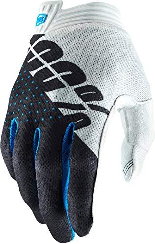 Sconosciuto Itrack 100% Glove, Guanti Unisex Adulto, White/Steel Gray, S