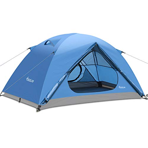Osaloe Camping Zelt 1-2 Personen, Wasserdichtes und Winddicht Ultralight Zelt zum Wandern, Camping im Freien, Trekking, Strand, Picknick, Garten, Reisen, Angeln (Blau)