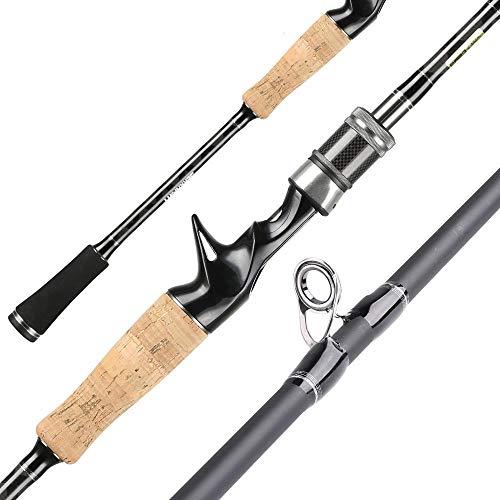 gousheng Combinazione di Canna da Pesca E Mulinello da Pesca Canna da Pesca Telescopica in Fibra di Carbonio E Mulinello da Pesca Kit di Canna da Pesca d'Acqua Dolce