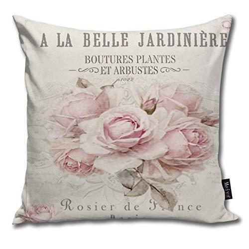 Sotyi-ltd - Federa decorativa per cuscino in stile shabby chic, per compleanno, matrimonio, anniversario, laurea, 45,7 x 45,7 cm