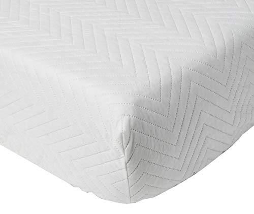Bedsack by Perfect Fit | Classic Quilted Mattress Pad, Hypoallergenic & Stain Resistant (Twin)