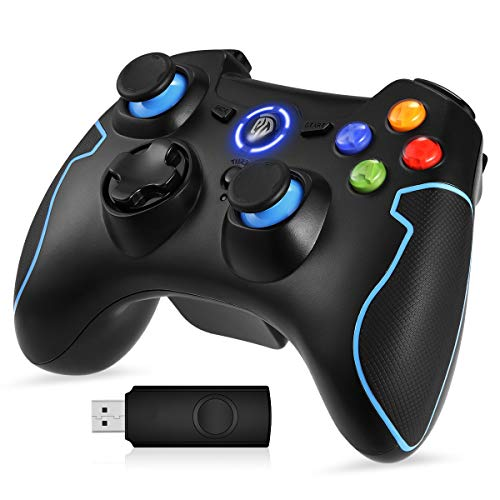 EasySMX Gaming Controller 2.4G Wireless Gamepad für PC, PS3, Kabellos, Dual Vibration