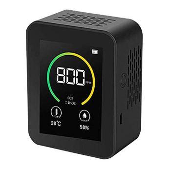 Kacsoo Détecteur de Co2 numérique, plage de mesure 400-5000 ppm, testeur d'air intelligent avec affichage de la température et de l'humidité, kit de testeur précis en temps réel pour analyseur d'air