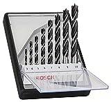 Bosch Professional 8 pièces Jeu de foret hélicoïdal à bois Robust Line (pour...