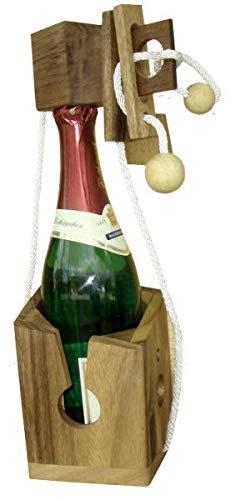 Flaschen-Puzzle Weinflasche Flaschen Holzpuzzle Geschenkidee Wein Sekt Verschluss NEU