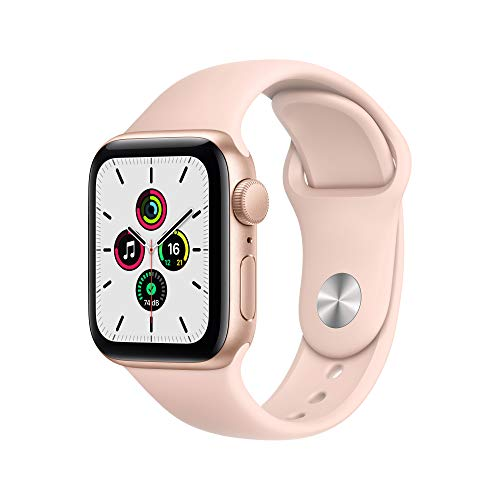 AppleWatch SE (GPS, 40mm) Aluminiumgehäuse Gold, Sportarmband Sandrosa