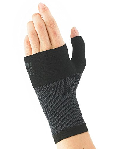 Neo G Wrist and Thumb Support - Ideal For Arthritis, Joint Pain, Tendonitis, Sprains, Hand Instability, Sports - Multi Zone Compression Sleeve - Airflow - Class 1 Medical Device - Large - Black