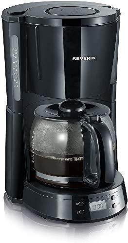 Severin Ka 4191 Macchina per Caffè Americano, Tè, Tisane e Infusi, con Timer, Nero/Nero