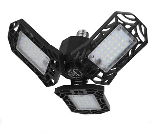 LED Garage Light 40W (Energy Saving) E26 Screw in 4000LM Deformable LED Garage Ceiling Lights 6000K Daylight White,LED Basement Lights for Garage Warehouse Workshop Shop (40W/1PACK)