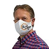 Bedruckbare Behelfsmaske weiß   mit Ihrem Logo oder Wunsch-Bild   Alltagsmaske für Herren   Mund- und Nasenmaske aus Baumwolle
