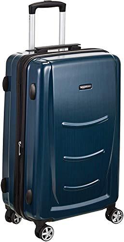 AmazonBasics - Trolley rigido, 55 cm (utilizzabile come bagaglio a mano di dimensioni standard), Blu Marino