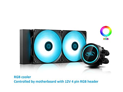 DEEP COOL Gammaxx L240 V2, AIO di Raffreddamento a Liquido per CPU, Tecnologia Anti-Leak...