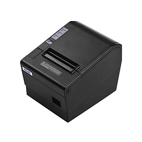 Festnight Stampante termica per ricevute 80mm con stampa automatica Biglietto d'nterfaccia Biglietto da visita con interfaccia USB Ethernet Compatibile con ESC/POS Comandi di stampa