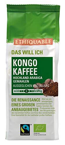 ETHIQUABLE Bio Fairer Kaffee aus Kongo (gemahlen), 2 x 250g