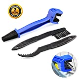 Motorcycle & Bike Chain Cleaner Tool Set – Durable Bicycle Chain Gears Maintenance Cleaning Brush Kit for All Type Chain Gears(3 Kinds)