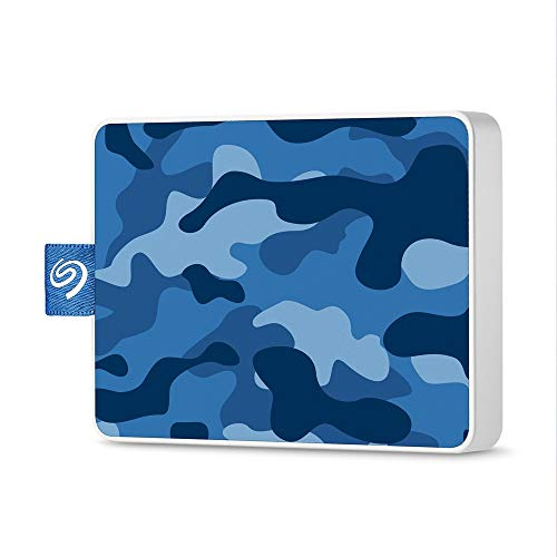 【Amazon.co.jp限定】 Seagate One Touch SSD 500GB 迷彩青 外付 PS4 ポータブル 3年保証 Win Mac USB 3.0 正規代理店品 STJE500406