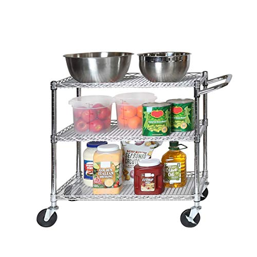 Seville Classics Industrial All-Purpose Utility Cart, NSF Listed