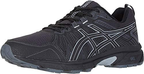 ASICS Men's Gel-Venture 7 Running Shoes, 12M, Black/Sheet Rock