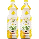 MontoFresh 100% Pure Lemon Juice Concentrate | 2 Pack of 1 Liter [32oz] Bottles| For Marinades, Smoothies, Cleaning, Baking, Drinks, Cocktails & Preserving Food | Rich in Vitamin C | Kosher Certified