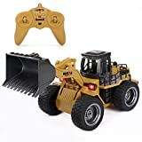 RC Shovel Loader Tractor Remote Control Car Toy, Full Functional Construction Vehicle with Lights