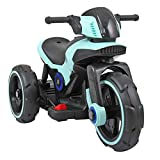 TOBBI Kids Ride On Toy Motorcycle Electric Tricycle Battery Operated with Light and MP3 Blue