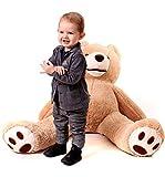 MAKOSAS Geant Ours en Peluche 100cm - Teddy Bear - Enfant Jouet Brun Nounours -...