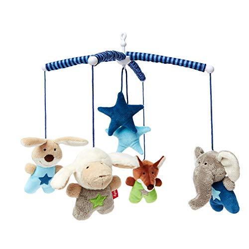 SIGIKID Mädchen und Jungen, Mobile Tiere blau Hangons, Babyspielzeug, empfohlen ab 0 Monaten, mehrfarbig, 42134