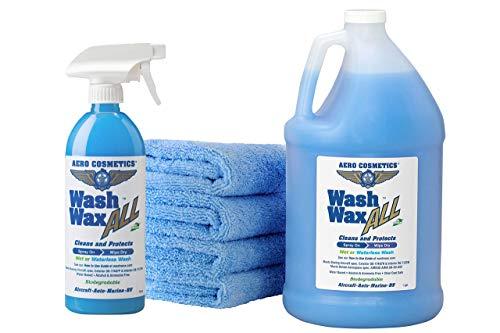 Wet or Waterless Car Wash Wax Kit 144 oz. Aircraft Quality...