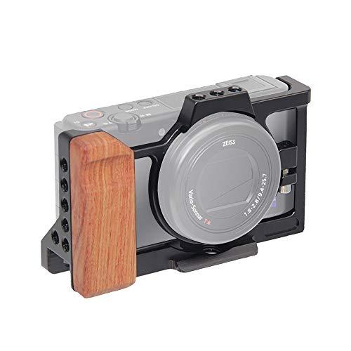 対応 Sony ソニー VLOGCAM ZV-1カメラ通用ケージ 超拡張性 1/4のネジ穴と3/8のネジ穴 Arri規格のネジ穴がある Arca規格プレートがあり、耐磨耗性、 耐腐食性が優れています (ZV-1TL)