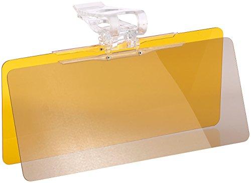 Lescars Autoblende: Tag- & Nacht-Blendschutz für die Auto-Sonnenblende, 30 x 13 cm (Blendschutz Auto Frontscheibe)