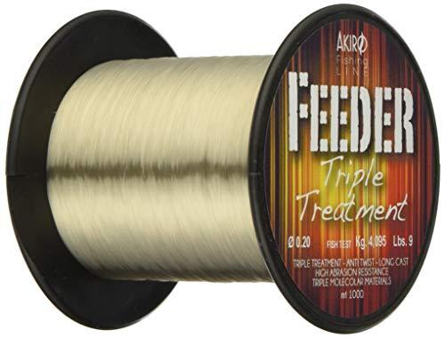 Akiro Feeder Tri-Band, Filo da Pesca Unisex - Adulto, Beige Fluo, 0.2 mm